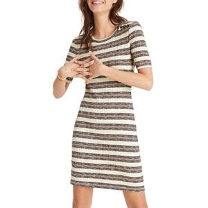 EUC Madewell Stripe Rib Knit Dress Size Small
